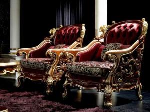 кресла украшенные резьбой