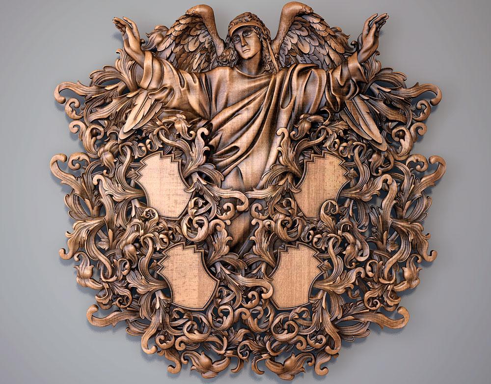 Резьба по дереву ангел