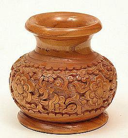 узбекская резная вазочка