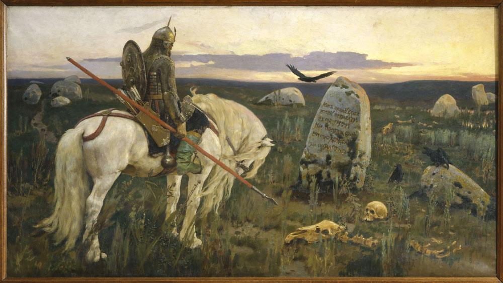 Оригинальная картина васнецова витязь на распутье