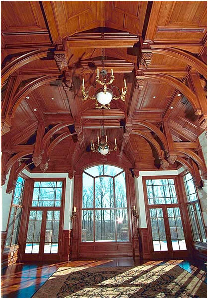 coffered wooden ceiling