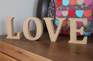 деревянные буквы love