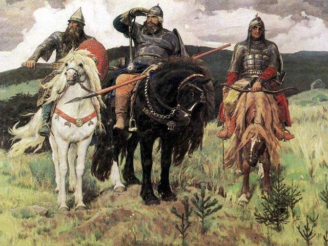 картина Васнецова три богатыря