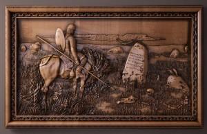 резная картина Витязь на распутье