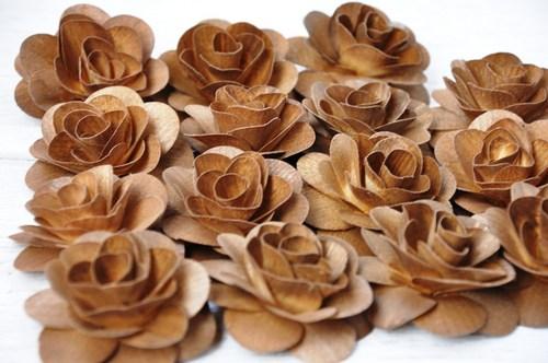 деревянные розы