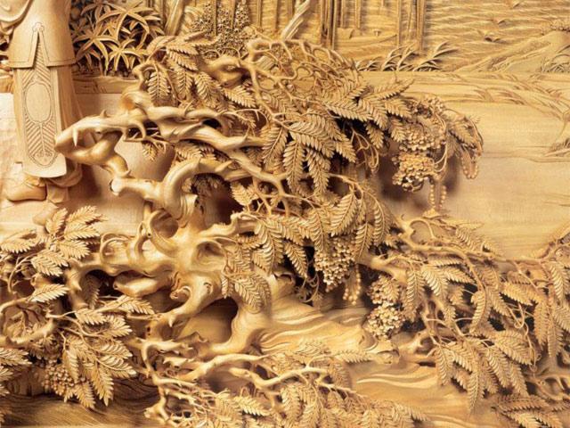 фото китайской резьбы по дереву