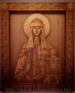 Резная икона княгиня ольга