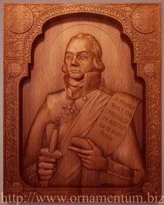 резная икона Федор Ушаков