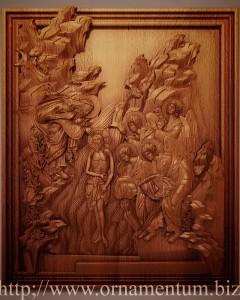 икона крещение христа