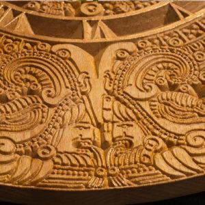 """Настенные деревянные часы """"Золото Ацтеков"""""""