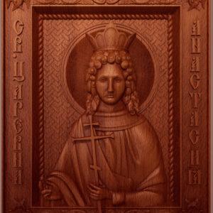 Резная икона св. царевна Анастасия