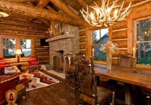 Интерьер комнаты в деревенском стиле