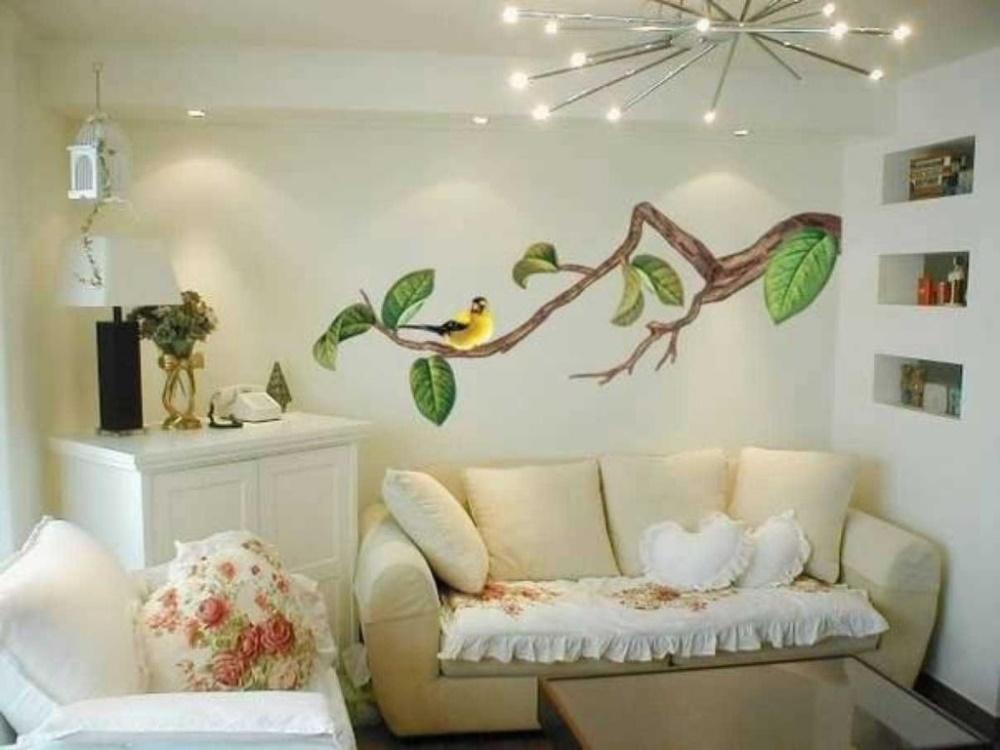 Интересный декор стен