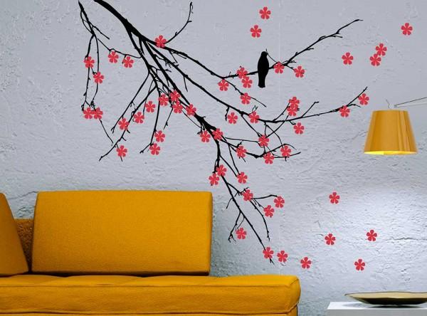 Декорирование стен краской
