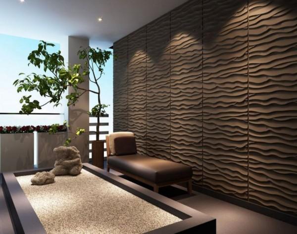 Объемные стеновые панели в современном интерьере