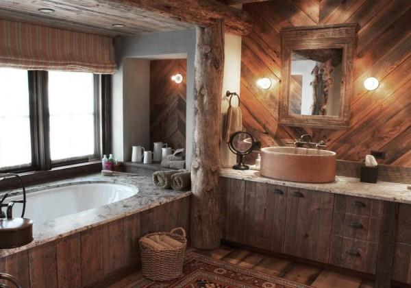 Ванная в деревенском стиле