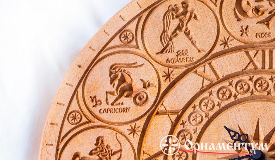 часы настенные резные знаки зодиака