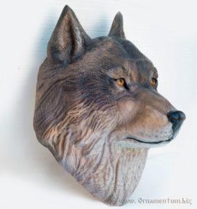 Голова волка трофей охота