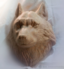 Голова волка. Трофей из дерева.