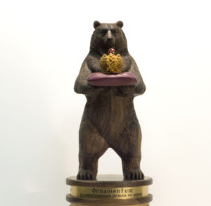 wooden bear for prize