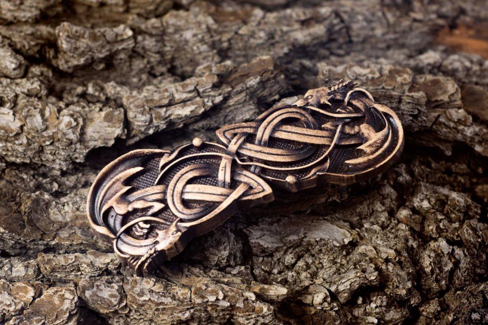 заколка для волос кельтская драконы