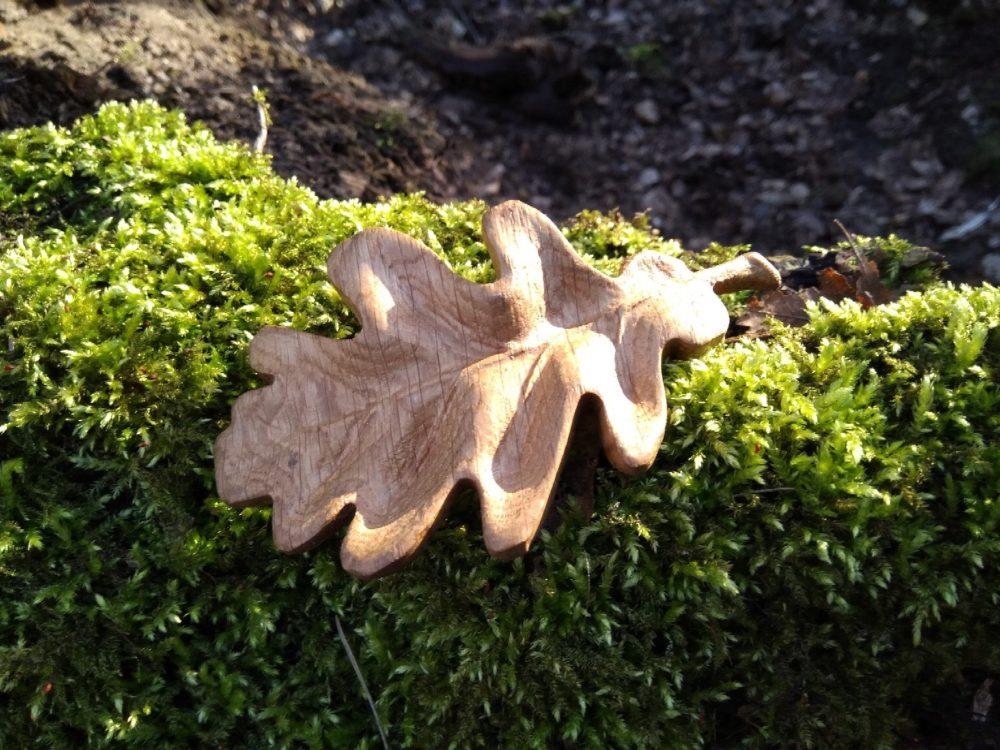 дубовый лист заколка для волос