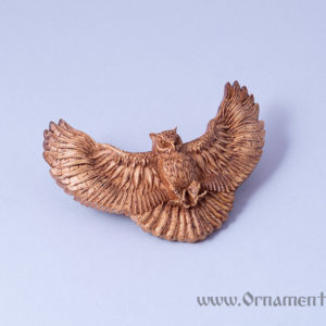 заколка для волос сова вид спереди