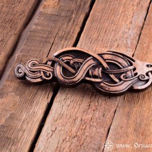 заколка в кельтский дракон спереди