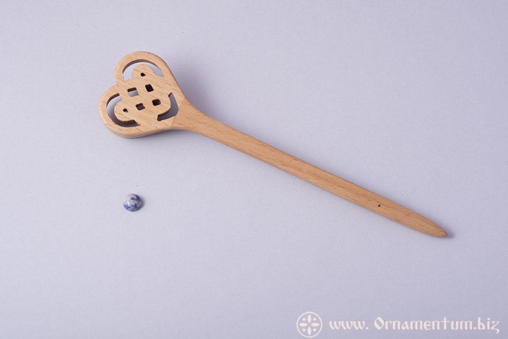 сердечко палочка киьайская заколка