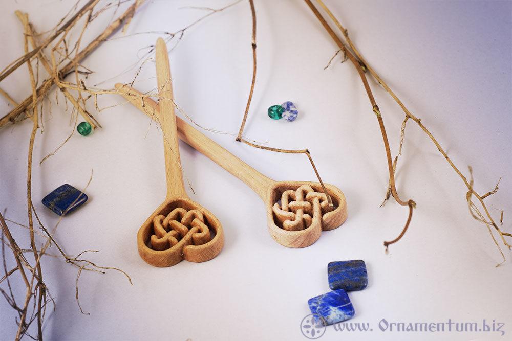 заколка-палочка келтьское плетиние сердечко пара