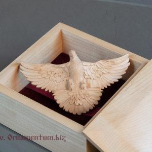 свадебная заколка в виде голубя