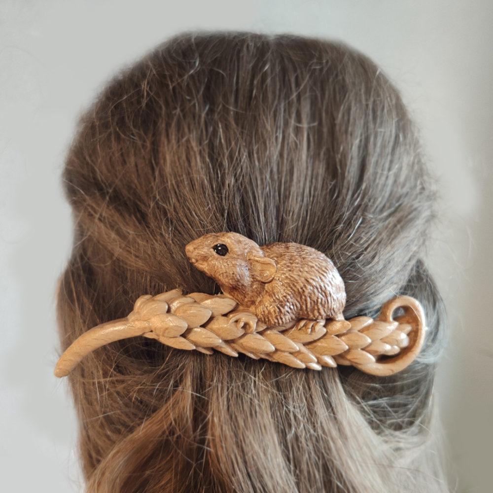 заколка для волос мышь